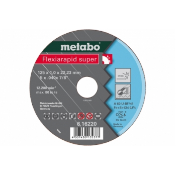Отрезной круг METABO Flexiarapid Super, A 60-U, 105 x 1 x 22,23 мм ( 616210000)